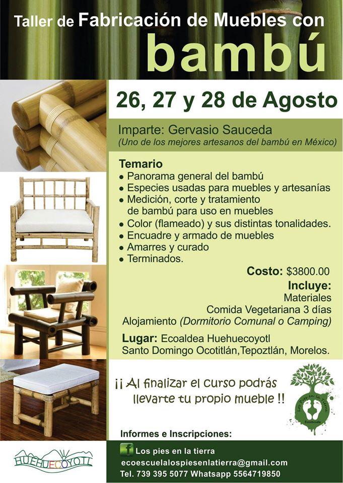 Taller de fabricaci n de muebles con bamb for Muebles bambu