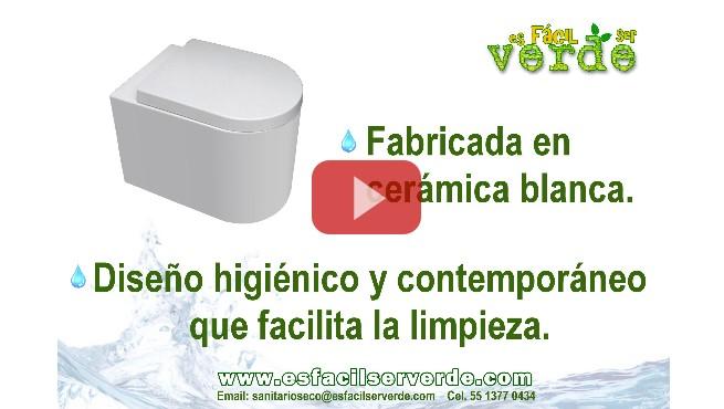 Taza de cerámica para baño seco o compostero, letrina, fosa séptica