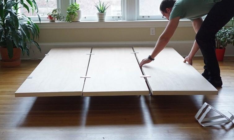 Una base para tu cama que puedas armar y desarmar r pidamente for Como hacer una base de cama matrimonial