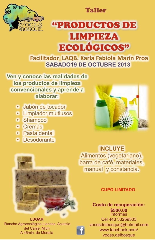 Taller de productos de limpieza ecol gicos - Productos de limpieza ecologicos ...