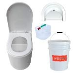 Taza WCEco® para sanitario seco con cubeta con separación de líquidos