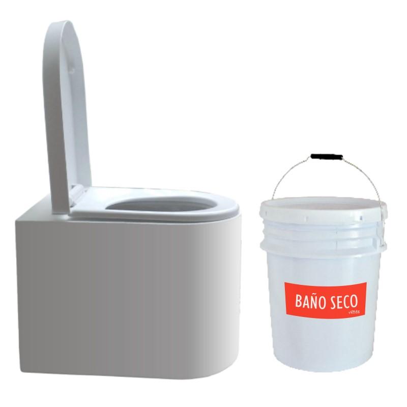 Taza WCEco® para sanitario seco con cubeta sin separación de líquidos